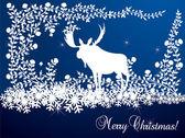 Ilustração de cartão de natal de alce — Vetorial Stock