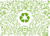 Recycling eco background — Stock Vector