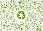 回收生态背景 — 图库矢量图片