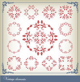 Abstract vintage frame background — Vector de stock