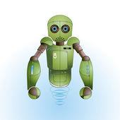 милый маленький красочный робот — Cтоковый вектор
