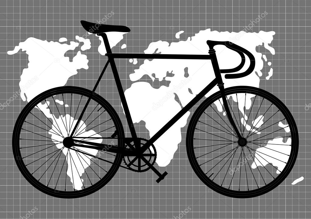 Abstract vintage bicycle background vector — Stock Vector #4575061