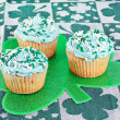 St. Patrick's Day Cupcakes — Stock Photo
