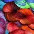 Colorful skeins of yarn. — Stock Photo