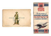 Vintage, circa WWII, defense savings bond booklet — Stock Photo