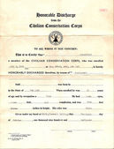 Vintage Honorable Discharge from CCC — Stock Photo