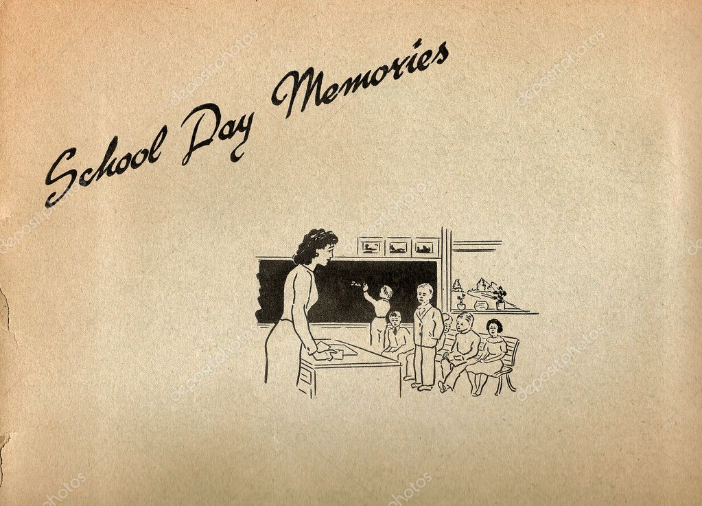 Vintage paper cover for School Day Memories — Stock Photo #5049273