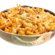 Royalty-Free Stock Photo: Full Pan of Baked Ziti on White
