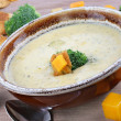 Broccoli Cheddar Soup — Stock Photo