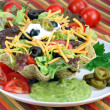 Taco Salad in Taco Bowl — Stock Photo