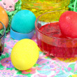 Coloring Easter Eggs — Stock Photo