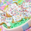 Stock Photo: Two Easter Bunny Iced Cookies