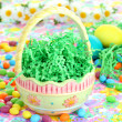 Empty Easter Basket waiting for Goodies — Stock Photo