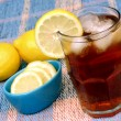Refreshing Iced Tea with Lemon - Stock Photo