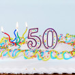 50th Birthday Cake — Stock Photo #5221761