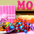 Treats and gifts for Mom — Stock Photo