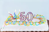 50th Birthday Cake — Stock Photo