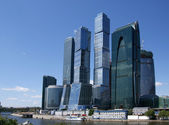 Skyscrapers of the International Business Center (City), Moscow, Russia — Stock fotografie