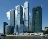 Skyscrapers of the International Business Center (City), Moscow, Russia — Стоковое фото
