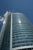 Okno skleněná fasáda kancelářská budova — Stock fotografie