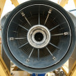Stock Photo: Inside rear of jet engine