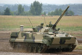 Modern heavy tank of the Armed Forces of Russia — Stock Photo