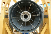 Inside the rear of a jet engine — Stock Photo