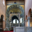 Euphrasian basilica, central nave and kivory. Porec, Istria, Croatia. Inclu — Stock Photo