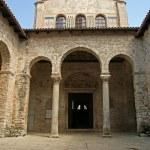 Atrium of Euphrasian basilica, Porec, Istria, Croatia. Included in the UNES — Stock Photo