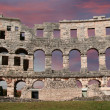 View of the Arena (colosseum)  in Pula, Croatia — Stockfoto