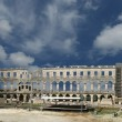 Panoramic view of the Arena (colosseum) in Pula, Croatia — Stock Photo