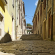 Streets of the historic center of Pula, Croatia — Stock Photo