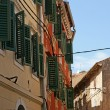 the streets of the old town of rovinj--city in croatia situated on the nort — Stock Photo
