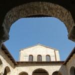 Atrium of Euphrasian basilica, Porec, Istria, Croatia. Included in the UNES — Stock Photo #4567474