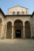 Atrium of Euphrasian basilica, Porec, Istria, Croatia. Included in the UNES — Stock Photo