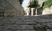 Ruas do centro histórico de pula, Croácia — Fotografia Stock