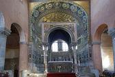 Euphrasian basilica, central nave and kivory. Porec, Istria, Croatia. Inclu — Stock Photo