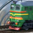 Stock Photo: Hi speed passenger train locomotive