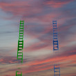 Colorful stairs, stretching into the sky — Stock Photo