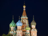 Moscow at night, Russia, Red Square, Cathedral of Intercession of Most Holy — Stock Photo