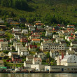 Small Town at Norwegian Fjord — Stock Photo