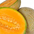 Cantaloup Melon and Halves — Stock Photo