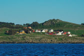 Coastal Settlement in Southern Norway — Stock Photo