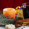 Royalty-Free Stock Photo: Candle and Mulled Wine
