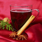 Hot Mulled Wine — Stock Photo