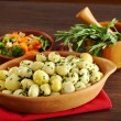 Small Potatoes with Herbs - Stock Photo