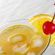 Maraschino Cherry with Orange Slice — Stock Photo