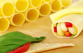 Cannelloni Filled with Vegetables — Stock Photo