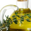Thyme and Olive Oil - Stock Photo