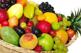 Exotic Fruits in Basket — Stock Photo